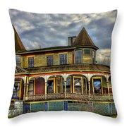 Painted House Sparta Georgia Throw Pillow