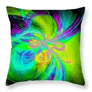 Painted Illusion Throw Pillow