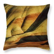 Painted In Gold Throw Pillow