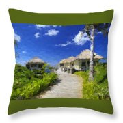 Painted Island Pathway Throw Pillow