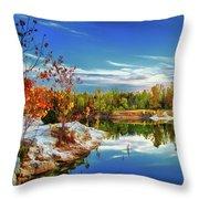 Painted Klondike Autumn Throw Pillow