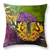 Painted Lady Butterflies Throw Pillow