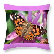 Painted Lady Butterfly Throw Pillow