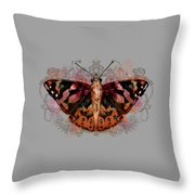 Painted Lady II Throw Pillow