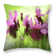 Painted Lavender By Kaye Menner Throw Pillow