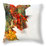 Painted Leaf Abstract 1 Throw Pillow