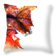 Painted Leaf Series 1 Throw Pillow