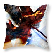 Painted Leaf Series 2 Throw Pillow