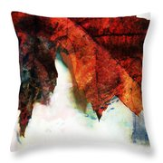 Painted Leaf Series 3 Throw Pillow
