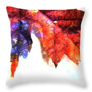 Painted Leaf Series 4 Throw Pillow