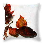 Painted Leaf Series 5 Throw Pillow