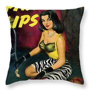 Painted Lips Throw Pillow