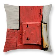 Painted Lock Throw Pillow