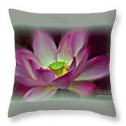 Painted Lotus Throw Pillow