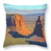 Painted Mesa Throw Pillow