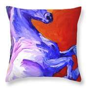 Painted Mustang Throw Pillow