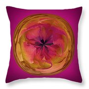 Painted Orb Throw Pillow