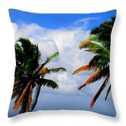 Painted Palm Trees Throw Pillow