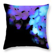 Painted Petals In Blue Purple Throw Pillow
