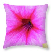 Painted Petunia 344 Throw Pillow