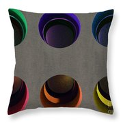 Painted Pigeon Holes Throw Pillow