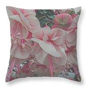 Painted Pink Fushia Throw Pillow