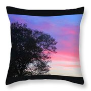Painted Pink Sky Throw Pillow