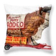 Painted Pony Rodeo Lake George Throw Pillow