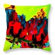 Painted Poppies Throw Pillow