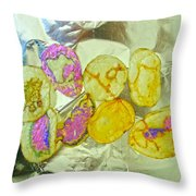 Painted Potato Chips Throw Pillow