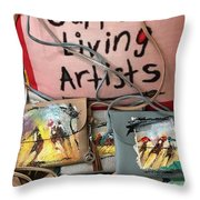 Painted Purses  Throw Pillow