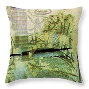 Painted Reflections Throw Pillow