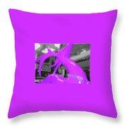 Painted Reindeer Purple Throw Pillow