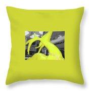 Painted Reindeer Yellow Throw Pillow