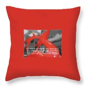 Painted Reindeer Quote Throw Pillow