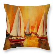Painted Sails Throw Pillow