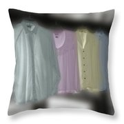 Painted Shirts Throw Pillow