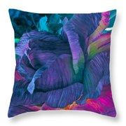 Painted Silk Throw Pillow
