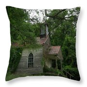 Painted St. Simons Church Throw Pillow