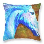 Painted Stallion Throw Pillow