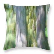 Painted Streaked Trees Throw Pillow