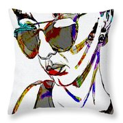 Painted Sunglasses Throw Pillow