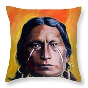 Painted Tears Throw Pillow