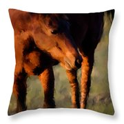 Painted Tele Throw Pillow