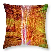 Painted Tews Falls					 Throw Pillow