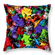 Painted Toys Throw Pillow