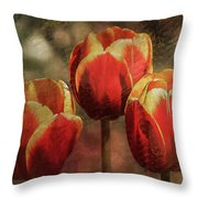 Painted Tulips Throw Pillow by Richard Ricci