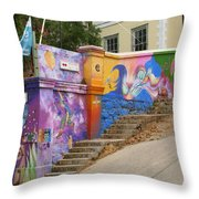 Painted Walls In Valparaiso Throw Pillow