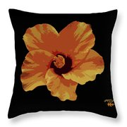 Painter Hibiscus Throw Pillow