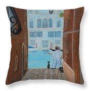 Painter In Venice Throw Pillow